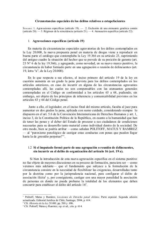 Circunstancias especiales de_los_delitos_relativos_a_estupefacientes