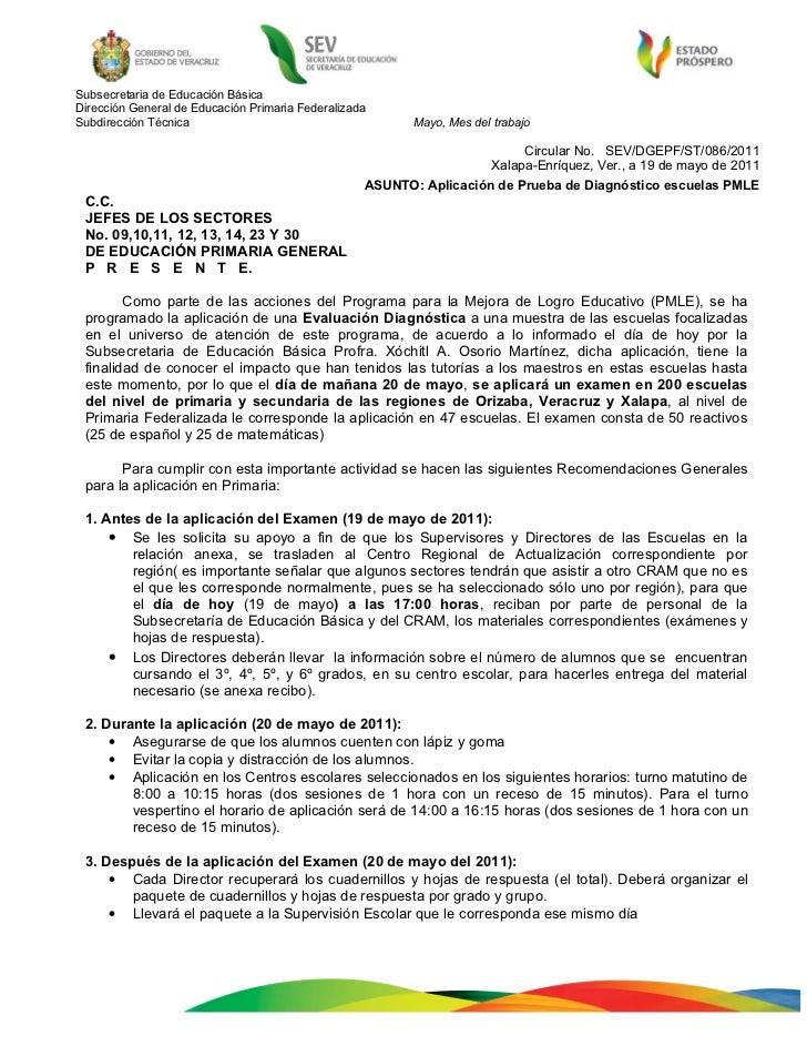 Subsecretaria de Educación BásicaDirección General de Educación Primaria FederalizadaSubdirección Técnica                 ...