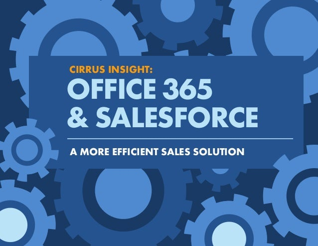 Cirrus Insight: Office 365 & Salesforce