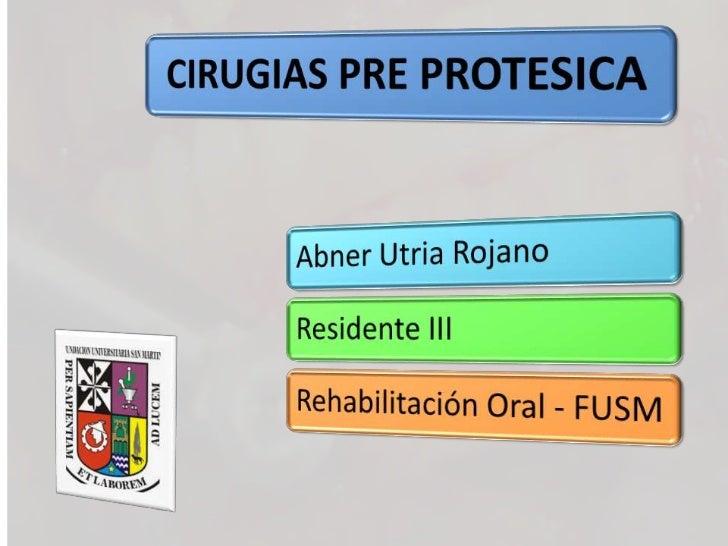 Introducción La cirugía periodontal con finalidad protésica se planifica a partir de tejidos saludables, dado que el objet...