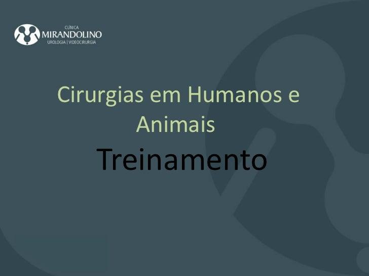 Cirurgias em Humanos e Animais    Treinamento