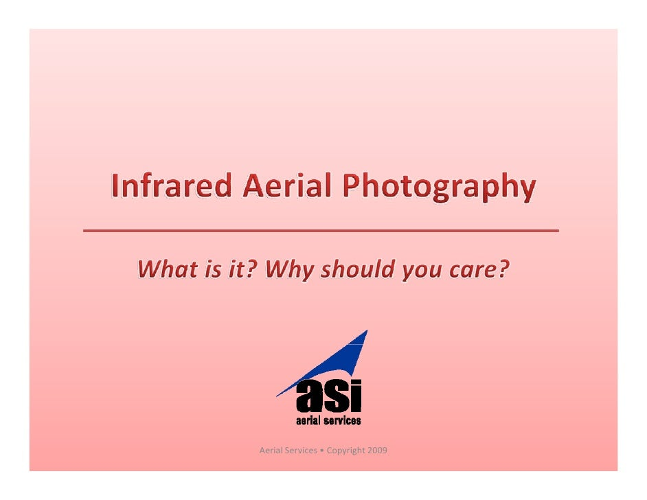 Color-Infrared Aerial Imagery 101