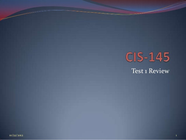 Test 1 Review10/22/2012                   1