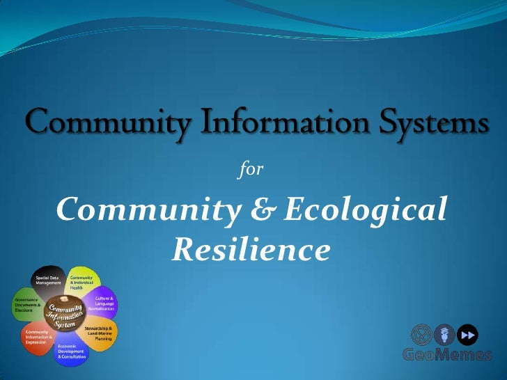 forCommunity & Ecological     Resilience