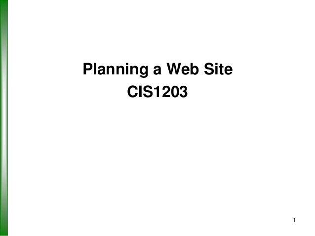 CIS1203 Web Design Principles - Part 1