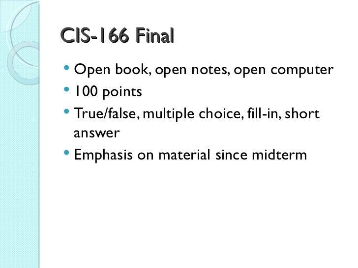 Cis166 Final Review C#