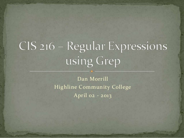 Using Regular Expressions in Grep