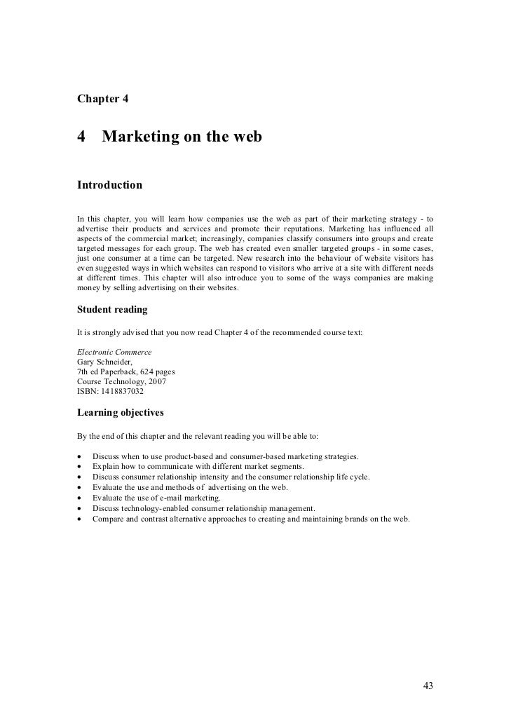 Chapter 44 Marketing on the webIntroductionIn this chapter, you will learn how companies use the web as part of their mark...
