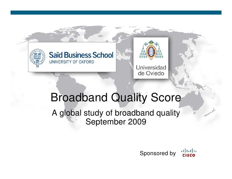 Global Broadband Quality Study