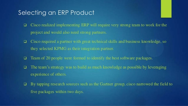 cisco systems implementing erp