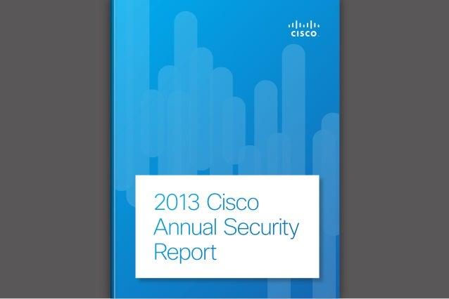 Cisco 2013 Annual Security Report