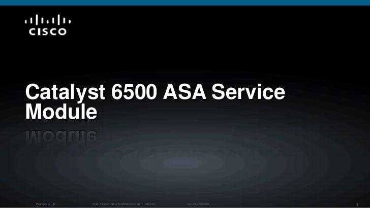 Catalyst 6500 ASA Service Module