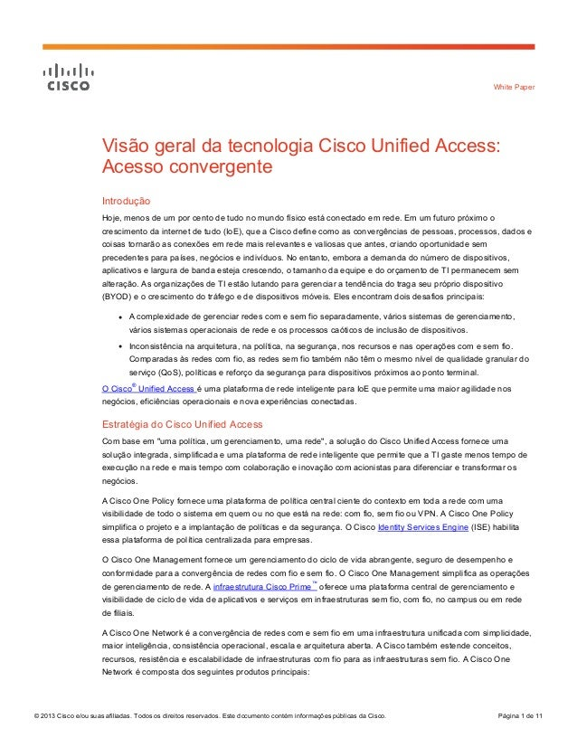 Visão geral da tecnologia Cisco Unified Access: Acesso convergente