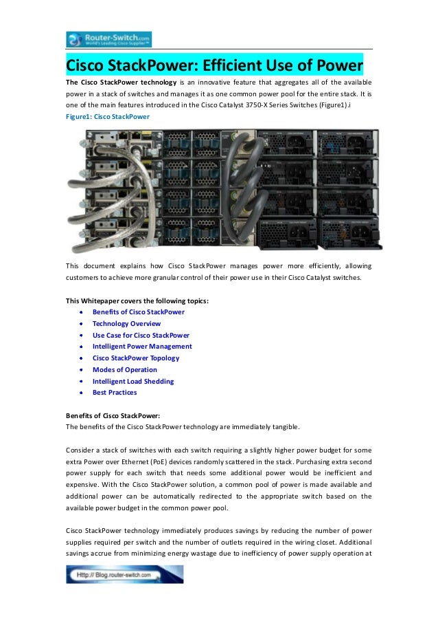 Cisco 3750 x series switches-cisco stack power efficient use of power