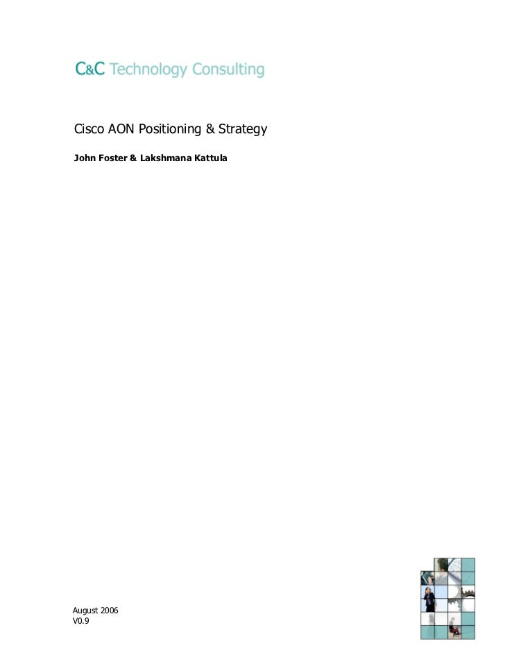 Cisco SOA appliance positioning & strategy paper