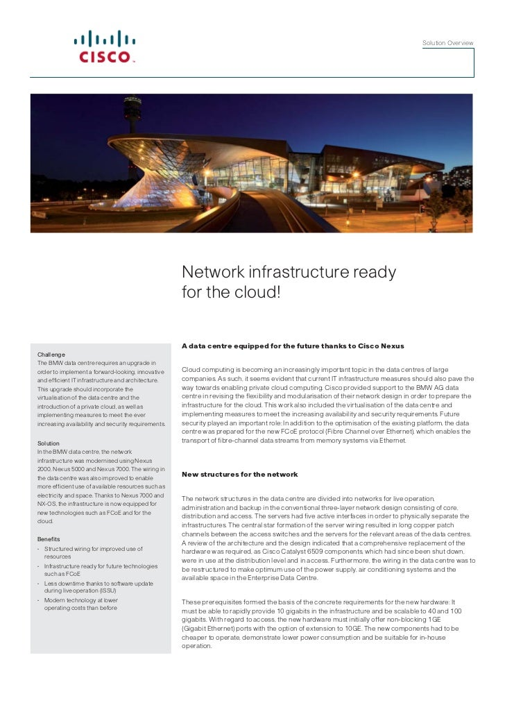 Solution Overview                                                     Network infrastructure ready                        ...