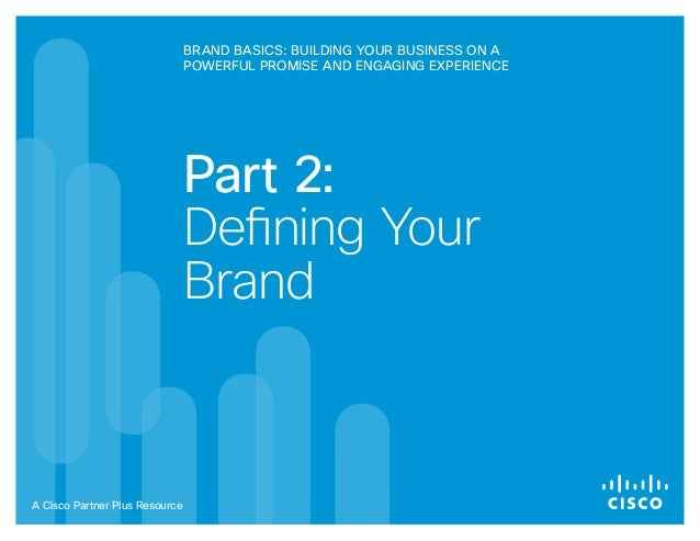 Partner Plus Brand Basics Session 2 Workbook