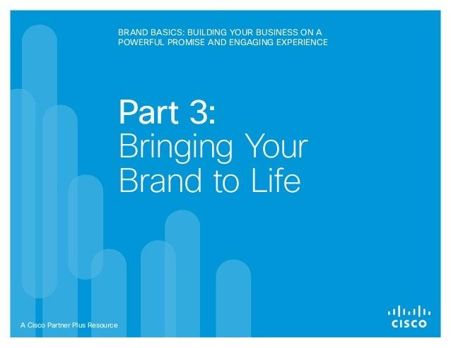 Partner Plus Brand Basics Session 3 Workbook