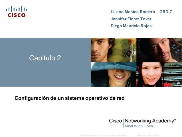 Información pública de Cisco 1© 2007 Cisco Systems, Inc. Todos los derechos reservados. Capitulo 2 Configuración de un sis...