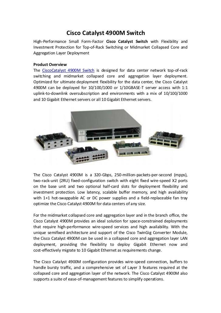 Cisco catalyst 4900 m switch