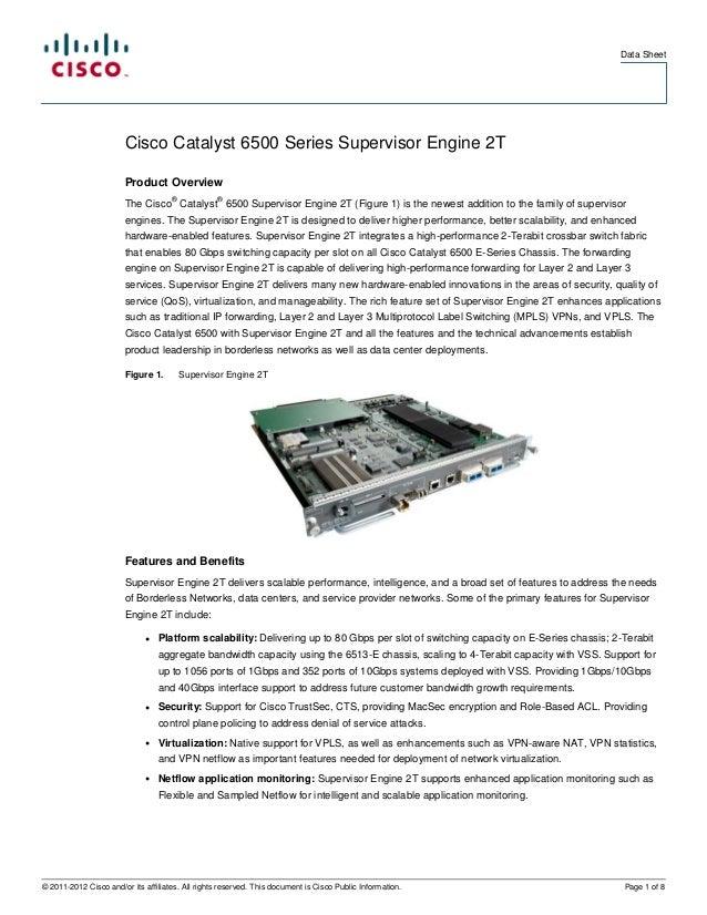Cisco catalyst 6500 series supervisor engine 2 t data sheet