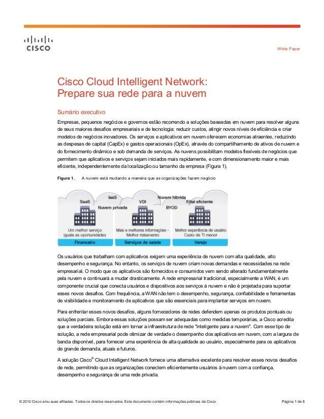 Prepare sua rede para a nuvem com Cisco Cloud Intelligent Network