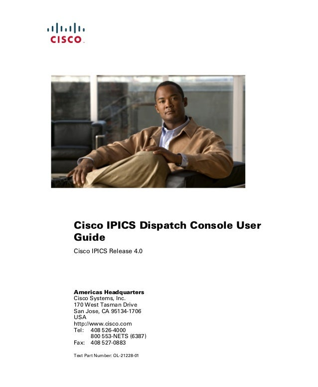 Cisco ipics dispatch console user