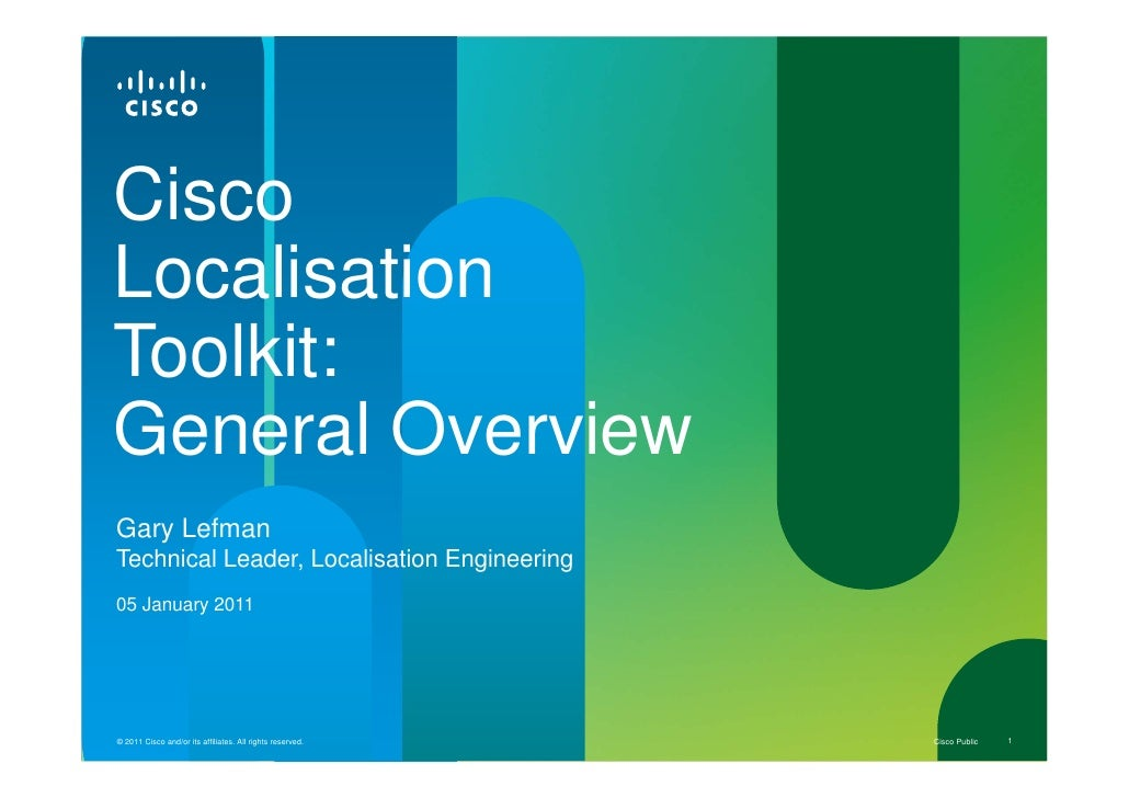 Cisco Localisation Toolkit