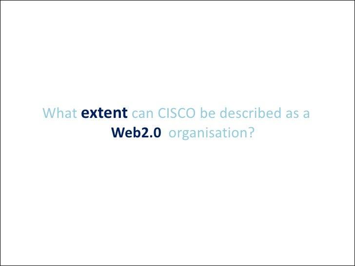 Web 2.0 at Cisco