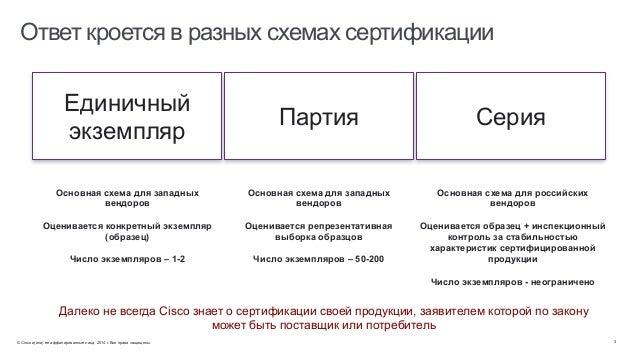 разных схемах сертификации