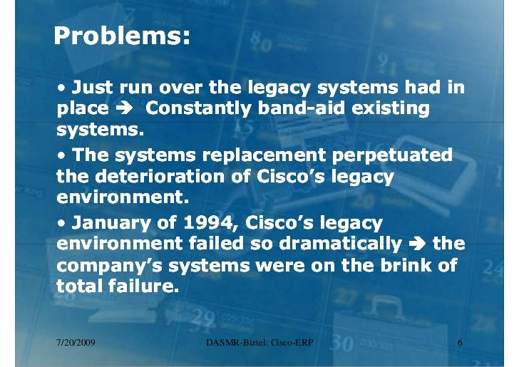 cisco systems inc implementing erp De marco once said that what cannot be measured cannot me managed academicians and practitioners in the field of software engineering and information systems p.