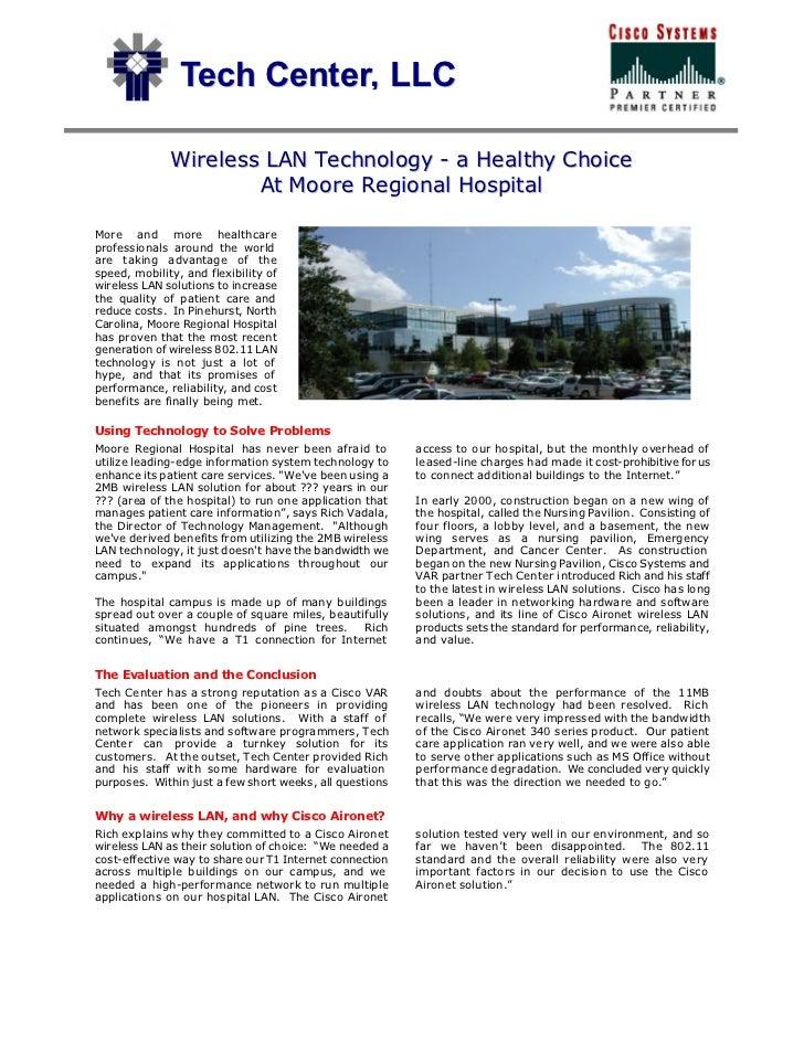 Tech Center, LLC              Wireless LAN Technology - a Healthy Choice                      At Moore Regional HospitalMo...