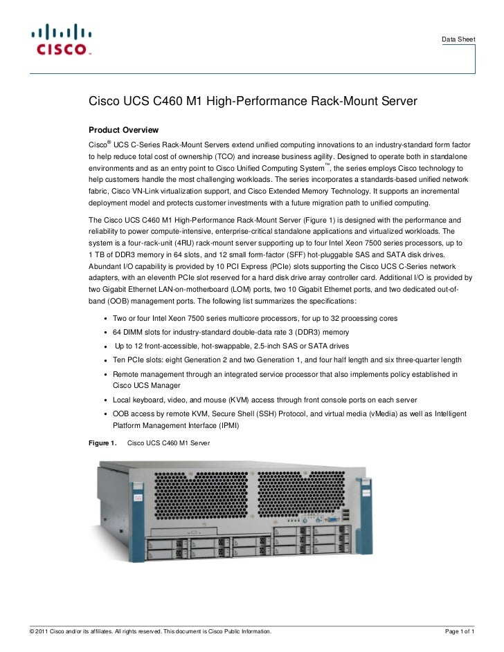 Cisco UCS C460 M1 High Performance Rack-Mount Server