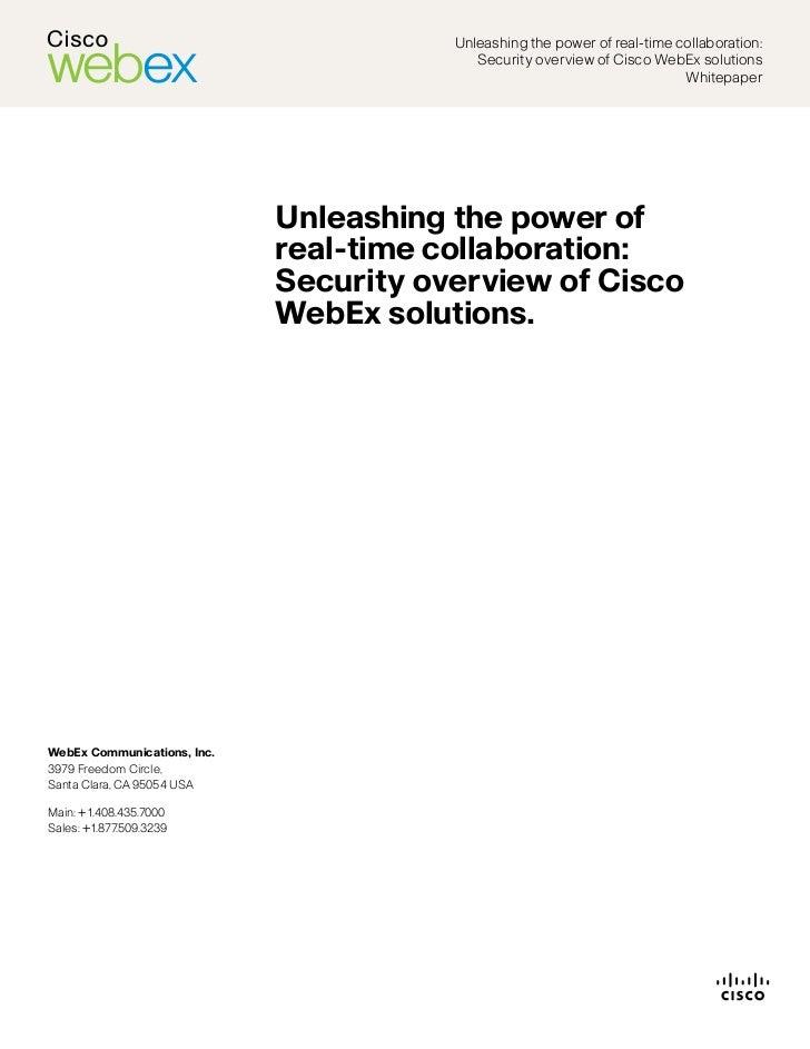 Cisco web ex cloud security