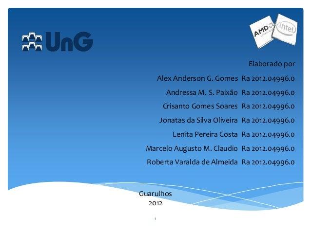 1Elaborado porAlex Anderson G. Gomes Ra 2012.04996.0Andressa M. S. Paixão Ra 2012.04996.0Crisanto Gomes Soares Ra 2012.049...