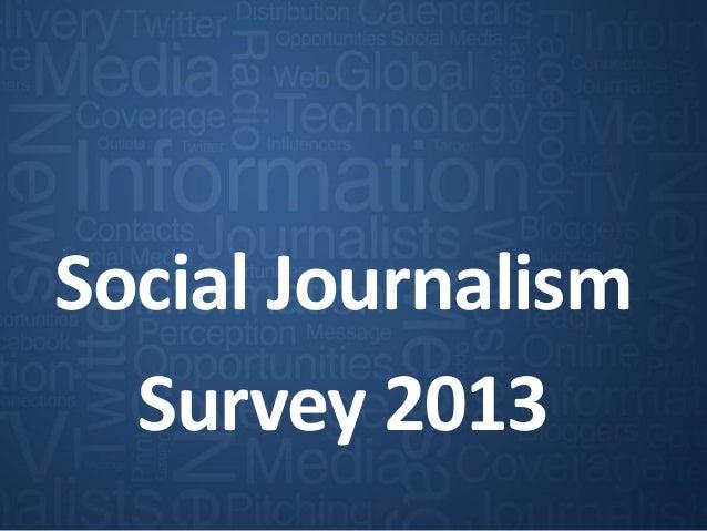 Cision - Global social journalism study 2013