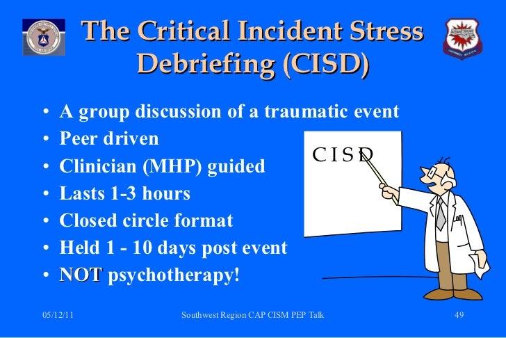 critical incident stress management (cism) a review of the literature Critical incident stress management (cism): a review of the literature  specifically critical incident stress  critical incident stress management.