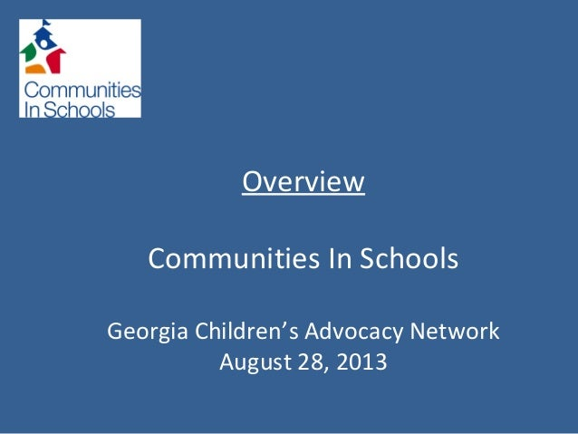 Communities in Schools Overview