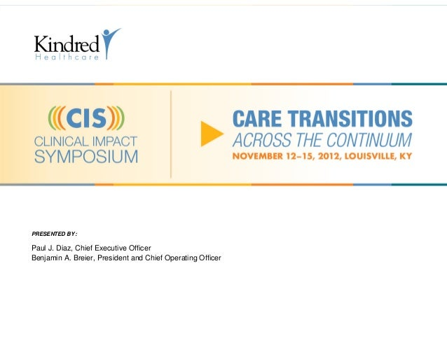 Care Transitions Across the Continuum