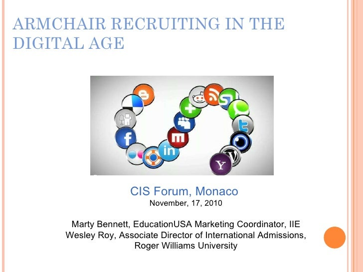 Armchair Recruitment in the Digital Age