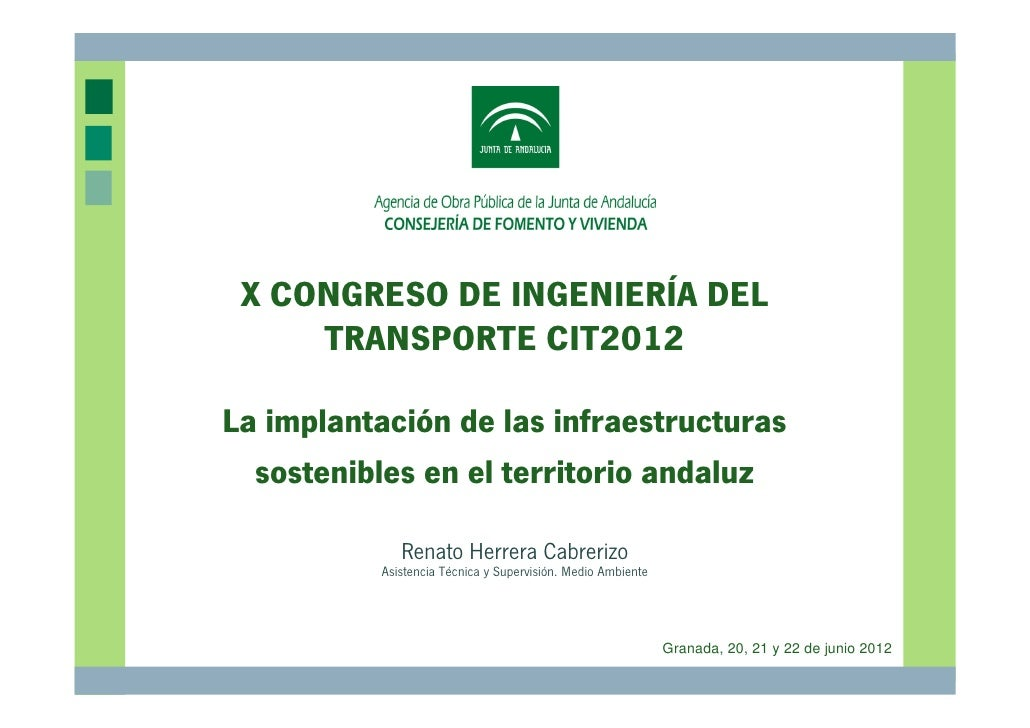 Cit2012 infraestructuras sostenibles