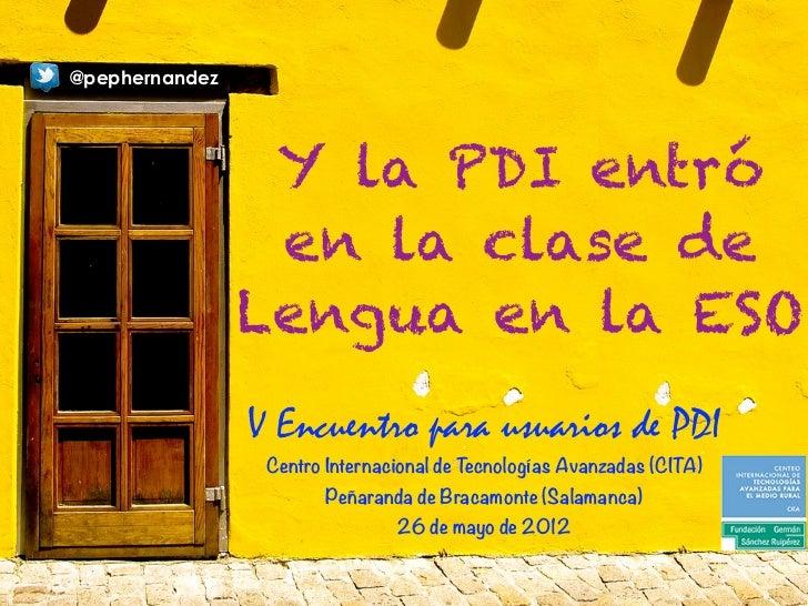 Y la PDI entró en el aula de Lengua en la ESO