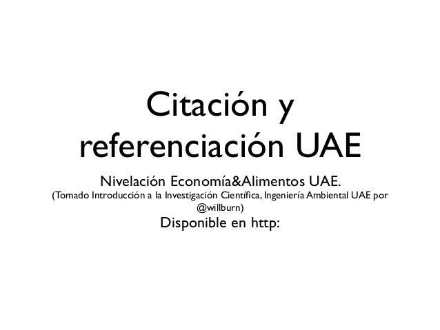 Citación y referenciación