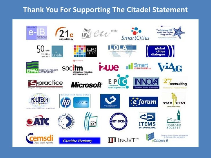 Thank You For Supporting The Citadel Statement<br />