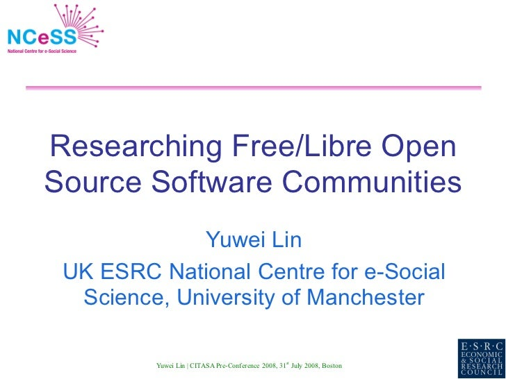 Researching Free/Libre Open Source Software Communities