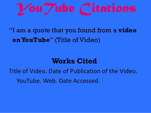 Are you supposed to underline/italicize or put quotes around the title of a youtube video?
