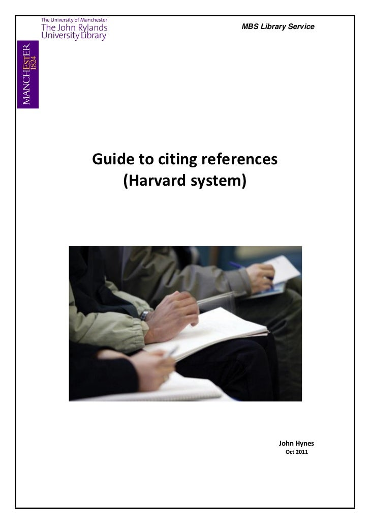 MBS Library ServiceGuide to citing references    (Harvard system)                             John Hynes                  ...