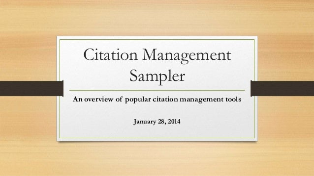 Citation management   jan 14 updated