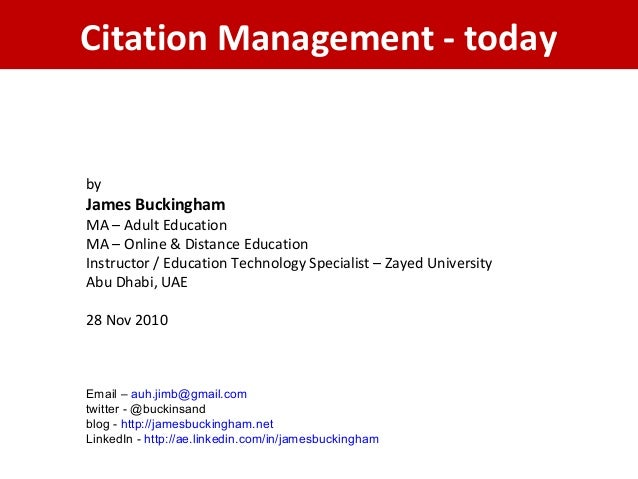 Citation management   today
