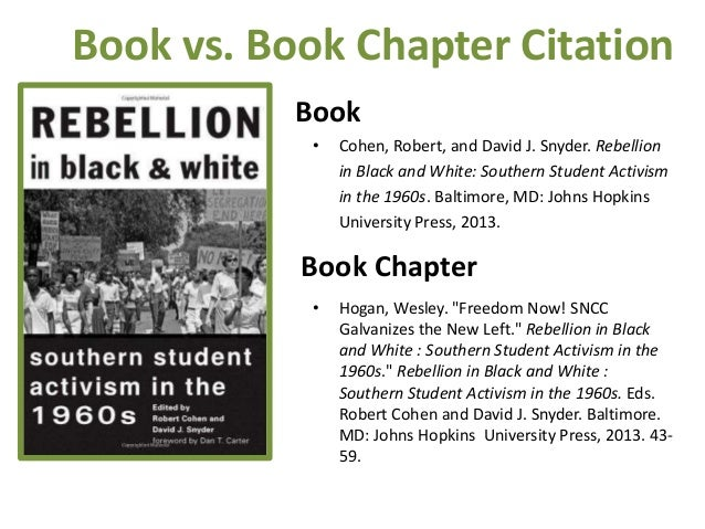 • Cohen, Robert, and David J. Snyder. Rebellion in Black and White: Southern Student Activism in the 1960s. Baltimore, MD:...